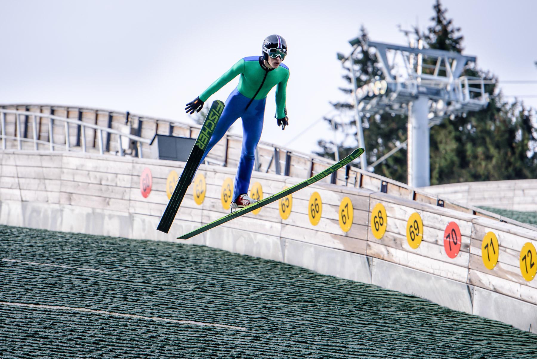 Skispringer im Kanzlersgrund